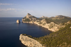 Sunset in Cap Formentor, Majorca Stock Image