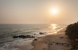 Sunset on Cape Coast beach, Ghana Stock Photo