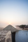 Sunset and Cape Coast Castle, Ghana, Africa Stock Images