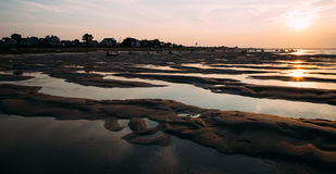 Sunset at Cape Cod Beach Royalty Free Stock Images