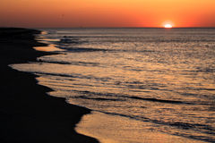 Sunset at the Cape Cod National Seashore Royalty Free Stock Photography