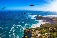 Sunset on Cape of Good Hope Stock Images