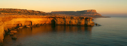 Epic Sunset at Cape Greko stock image