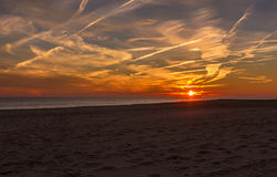 Sunset at Cape May Point New Jersey Shore Stock Photography