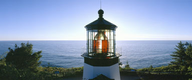 Sunset at Cape Meares Lighthouse Royalty Free Stock Photography