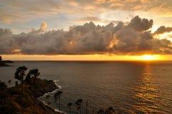 Sunset Cape Promthep, Phuket,. Sunset on the Andaman Sea, Cape Promthep, Phuket, Thailand Stock Image