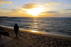 Sunset at Cape Range National Park, Western Australia Royalty Free Stock Image