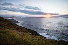 Sunset at Cape Reinga, Far North, New Zealand Royalty Free Stock Photo