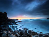 Sunset in cape schanck Stock Photos