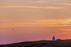 Sunset at Cape St. Mary's lighthouse Stock Image