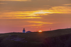 Sunset at Cape St. Mary's lighthouse Royalty Free Stock Image