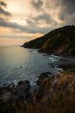 Sunset cape thailand Stock Photography