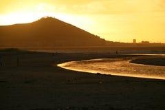 Sunset on Cape Town Stock Photo