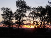 Sunset from Capel Iwan Stock Images