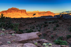 Sunset at Capitol Reef National Park Royalty Free Stock Image