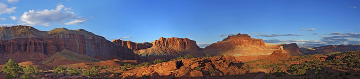 Sunset Capitol Reef National Park at Panorama Point Stock Photo