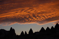 Sunset in cappadocia Stock Photo