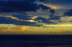 Sunset In The Caribbean Royalty Free Stock Photography