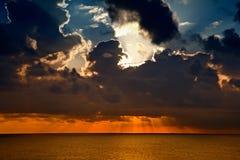Sunset on the Caribbean Stock Photos
