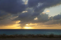 Sunset in the Caribbean Stock Image