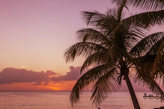 Sunset in Caribbean Royalty Free Stock Photography