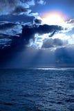 Sunset on the Caribbean Sea Royalty Free Stock Photo