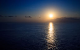 Sunset on the Caribbean Sea Stock Image