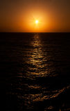 Sunset on the Caribbean Sea Royalty Free Stock Images