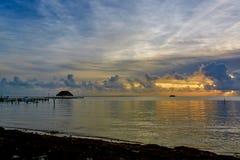 Sunset on the Caribbean Sea Stock Photo
