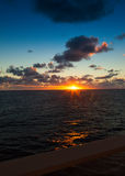 Sunset on the Caribbean Stock Image