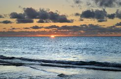 Sunset in the Caribbean. Sun setting in the Caribbean at Varadero, Cuba royalty free stock image
