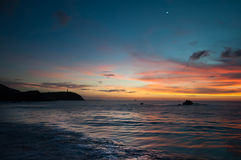Sunset in the Caribbean Stock Images