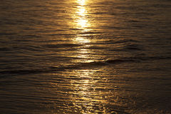 Sunset. The sunset in the caribe sea Royalty Free Stock Images
