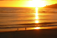 Sunset at Carmel Beach Royalty Free Stock Image
