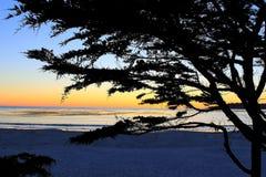 Sunset Carmel Beach, Southern California Stock Images