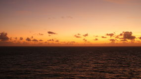 Sunset in the Carribean off  Arruba. Taken from a Cruise ship Stock Photos