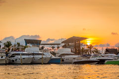 Sunset in Cartagena - Colombia Royalty Free Stock Images