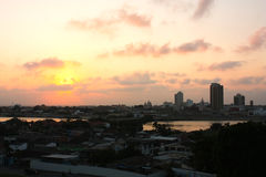 Sunset in Cartagena de Indias. Stock Photos