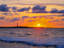 Sunset in Casablanca, Morocco Royalty Free Stock Images