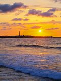 Sunset in Casablanca, Morocco Royalty Free Stock Photo