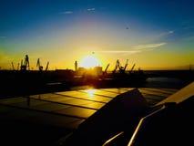 Sunset in Casablanca stock images