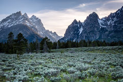 Sunset in Cascade Canyon royalty free stock photography
