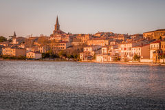 Sunset in Castelnaudary, France Royalty Free Stock Image