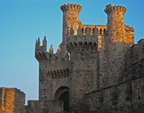 Sunset Castle stock photo