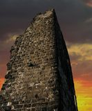 Sunset Castle. An old ruin at sunset Royalty Free Stock Photos