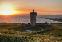 Sunset at the castle - HDR. Doolin castle at sunset - Ireland - HDR Stock Images