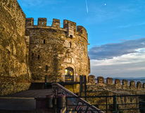 Sunset at the castle . HDR Royalty Free Stock Images