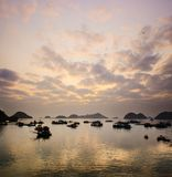Sunset in Cat Ba Stock Photos