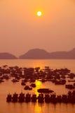 Sunset at Catba island, Halong Bay Stock Photos