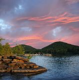 Sunset on Cave Run Lake Kentucky USA Royalty Free Stock Photo